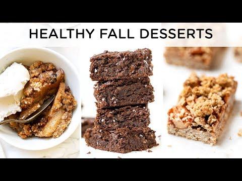HEALTHY FALL DESSERT RECIPES ‣‣ quick & easy vegan desserts
