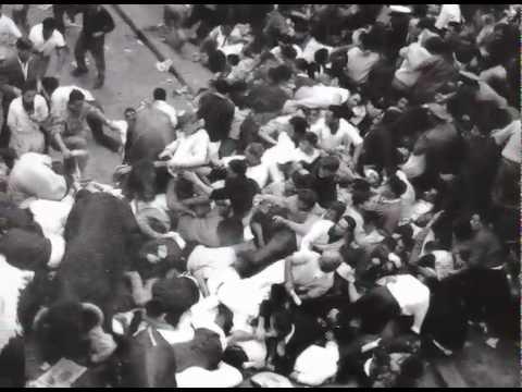 7 de Julio de 1960. Primer encierro de las fiestas.
