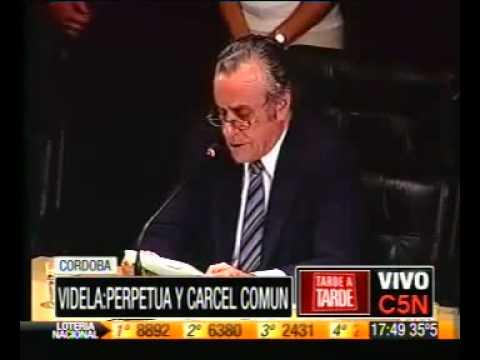 Prisión perpetua para Jorge Rafael Videla y Luciano Benjamín Menéndez 22/12/10