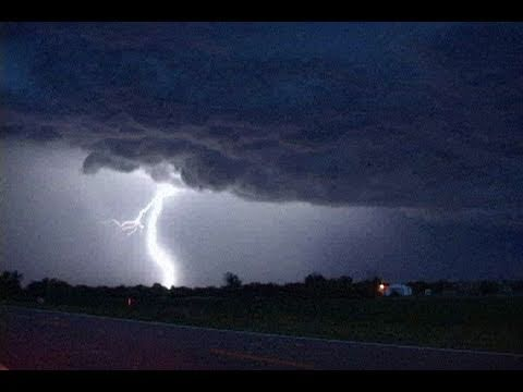 Supercell Thunderstorm & Evening Lightning- McCook, NE June 8th, 2007