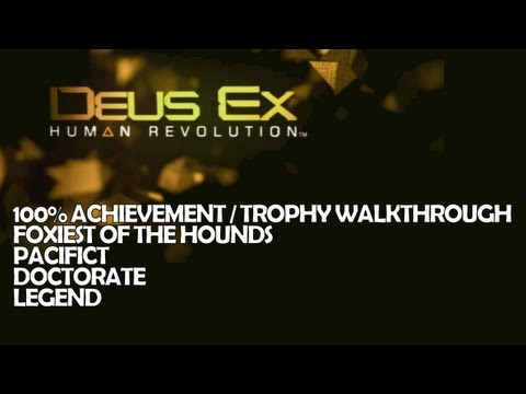Deus Ex  - Part 14 - S1 - Legend / Doctorate / Pacifist / Foxiest Full Walkthrough