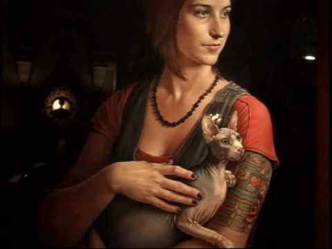 Girl w/Sphynx Cat - Leonardo da Vinci ?