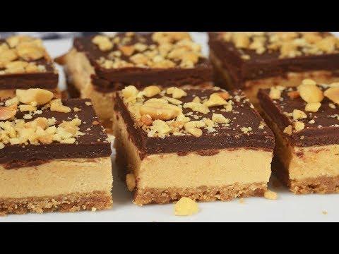 Chocolate Peanut Butter Bars Recipe Demonstration - Joyofbaking.com
