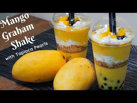 MANGO GRAHAM SHAKE | MANGO GRAHAM SHAKE WITH TAPIOCA PEARLS