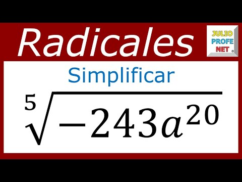 Simplificación de una raiz con radicando negativo