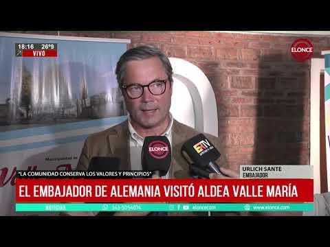El embajador de Alemania visitó Aldea Valle María