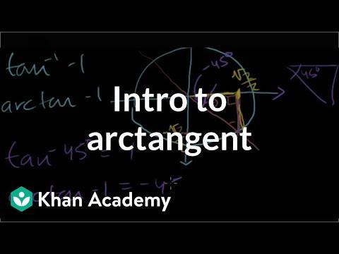 Inverse Trig Functions: Arctan