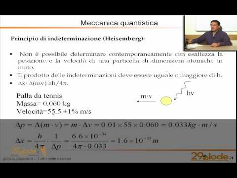 Lezioni di Chimica Generale - Meccanica quantistica e atomo di idrogeno - Videolezione 29elode.it