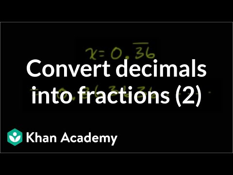 Coverting Repeating Decimals to Fractions 2