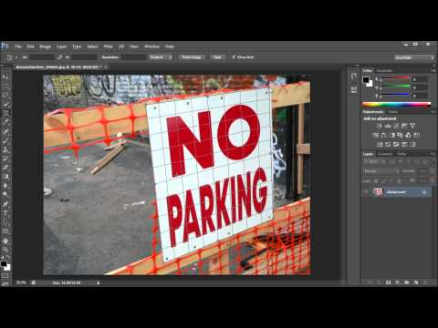 Photoshop Tutorial: CS6 New Perspective Crop Tool -HD
