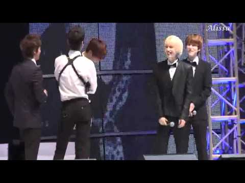 110816 Donghae is jealous of Zhoumi and Eunhyuk? - EunHae - SJM fanmeeting Beijing