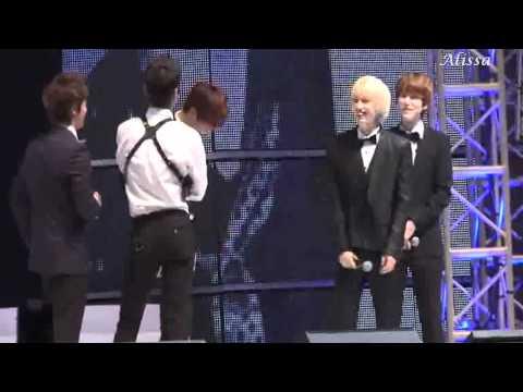 110816 Donghae is jealous of Zhoumi and Eunhyuk? - EunHae - SJM fanmeeting Beijing