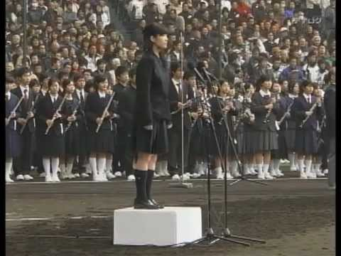 Japanese spirit. Japan's national anthem. High school girls sing. 【君が代/KIMIGAYO】