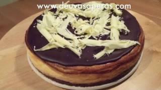Como Hacer Tarta de Queso con Chocolate Blanco y Negro