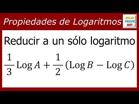 Reducir varios logaritmos a uno sólo
