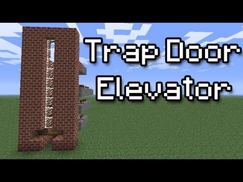 [Minecraft Tutorial] Trap Door Elevator (easy)