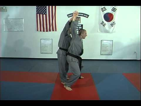 Hapkido Behind Double Wrist Grab Techniques 1 thru 7, Ji Han Jae