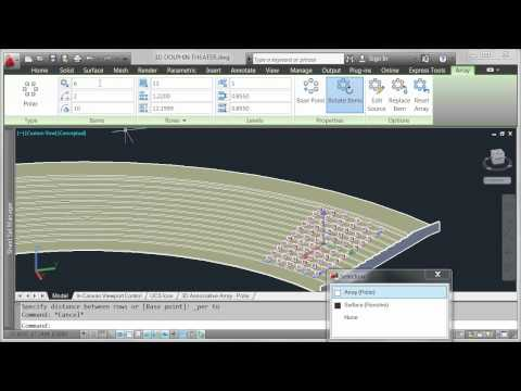 AutoCAD 2012 - Demo Video - 3d Array