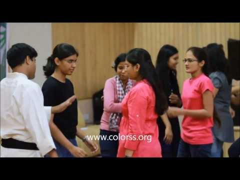 Colorss conducting Self-defense workshop at L&T Knowledge city, Baroda - Colorss Foundation