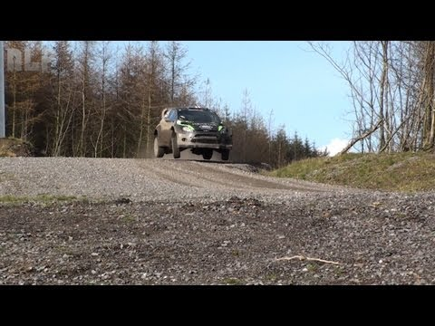 WRC Wales GB 2011 - Ken Block Testing [HD]