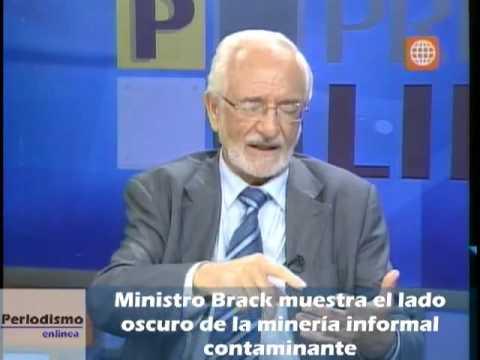 Ministro Brack muestra el lado oscuro de la minería informal, el uso de dragas y su financiamiento