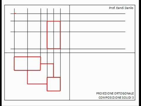 Proiezione ortogonale composizione solidi 3