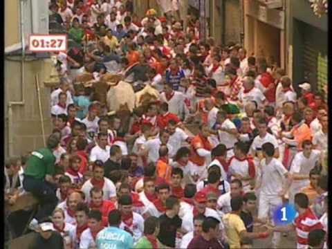 El tercer encierro de San Fermín 2009