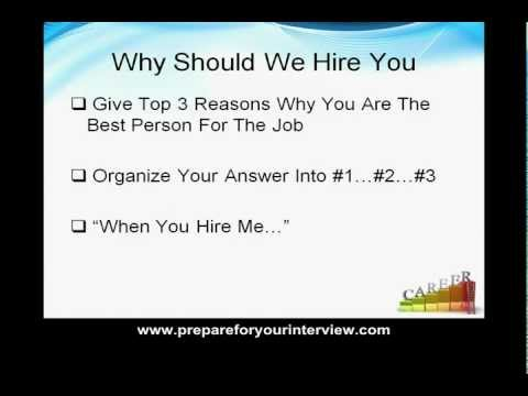 "Job Interview Questions and Answers - Job Interview Question ""Why Should We Hire You"""