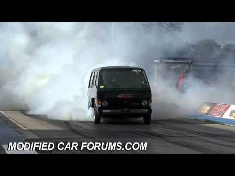 1000hp Van Demo powerskid crash at Summer Skidfest 2010