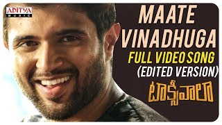 Maate Vinadhuga Full Video Song (Edited Version) || Taxiwaala