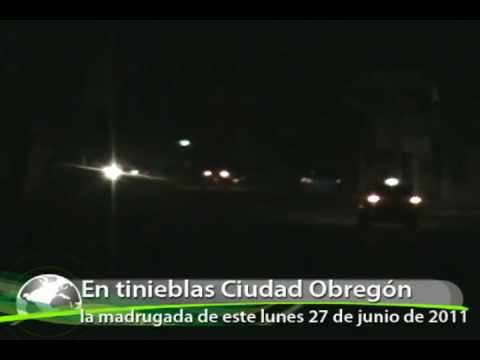 Apagón deja en tinieblas a Ciudad Obregón esta madrugada