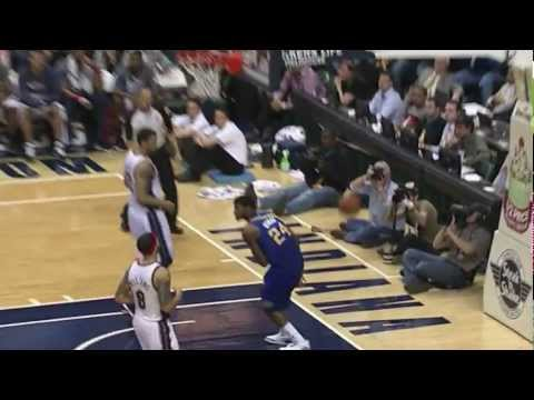 Paul George SICK double-pump reverse dunk vs. Nets (Jan 31, 2012)