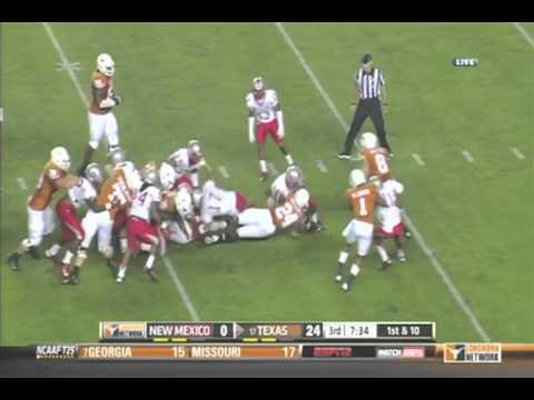 Texas Longhorns vs New Mexico Lobos 2012 - Texas Only Highlights