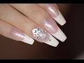 French Nails with Swarovski | Red Iguana | April Ryan