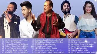 Atif Aslam  Neha Kakkar Arijit Singh Rahat  Fateh Ali Khan  Armaan Malik I नवीनतम बॉलीवुड के गाने