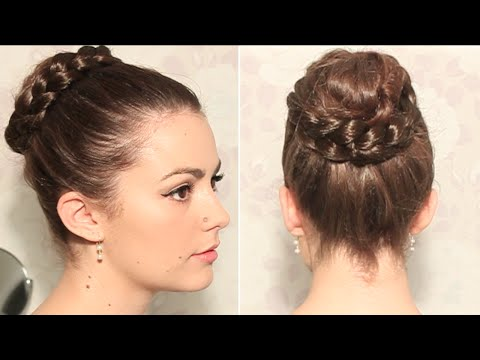 Chignon nid avec maxi tresse