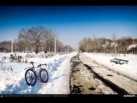VIDEOCLIP Plimbare de iarna cu bicicletele in Parcul Tineretului [VIDEO]