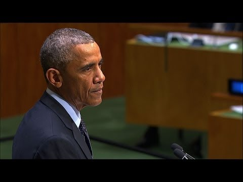 Obama: Climate is changing faster than efforts to address it   9/23/14  (Climate Change)