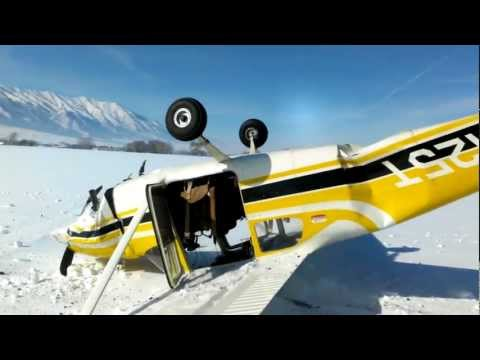 Utah Plane Crash Captured on Cell Phone by Passenger -ORIGINAL FOOTAGE-