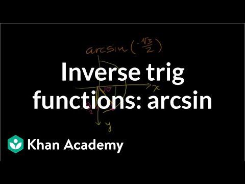 Inverse Trig Functions: Arcsin
