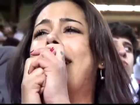 Larissa Riquelme llora con victoria de Paraguay ante Brasil (Copa America Argentina 2011) 17/07/11