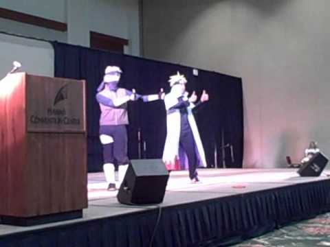 Kakashi and Minato in Cosplay Theater at Kawaii kon 2011