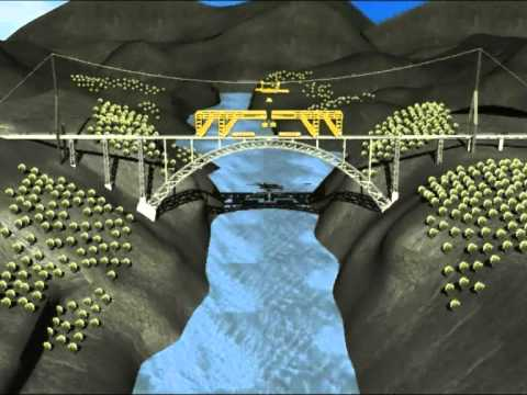 Chenab Railway Bridge construction Animation - CADMEC