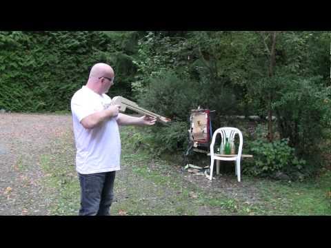 Pump Action Slingshot Crossbow!