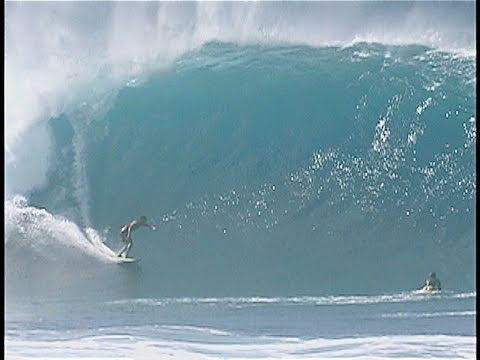 GIANT SET at PIPELINE.  Surfing & Bodyboarding Huge Waves.