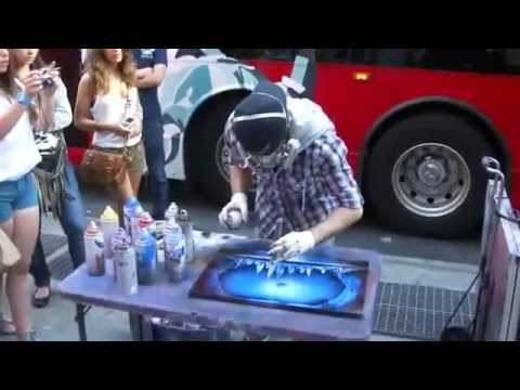 Spray paint art in New York City