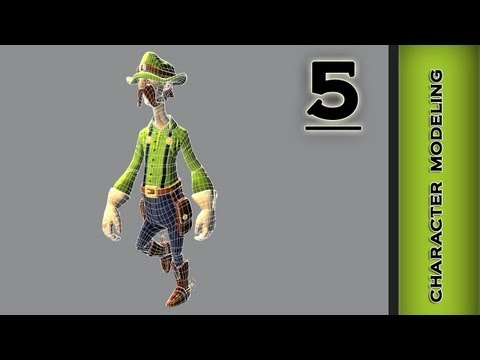 Autodesk Maya 2013 Tutorial - Character Modeling - Mouth, Nose Part 5