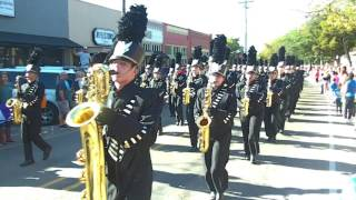 Forney High Jackrabbits Marching in the Unity Parade