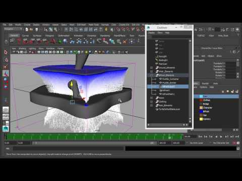 Maya tutorial: Create rain in Bifrost, Part 3