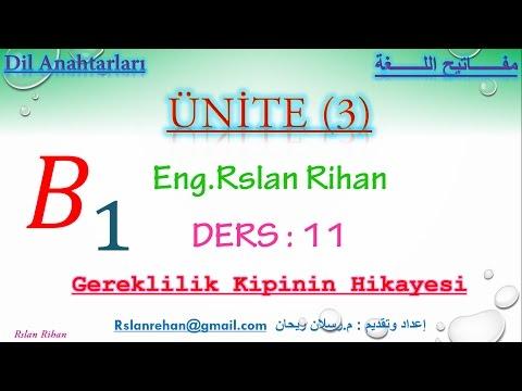 تعلم اللغة التركية(الدرس 11 من المستوى الثالث B1) (صيغة الوجوب في الزمن الماضي)